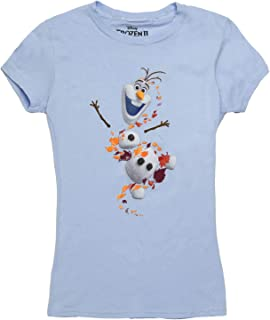 Frozen Olaf in Leaves Juniors T-Shirt