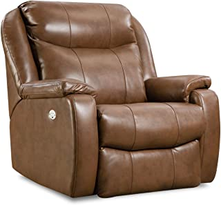 Southern Motion Hercules (Big Man) (Power Recline) Leather/Vinyl(Wallhugger) Recliner with (Power Headrest).Weight Capacity 400 Lbs. Ext. Length 74