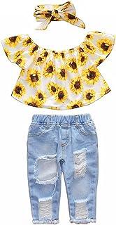 Jeans Set SANGTREE Little Girls Strapless Tops