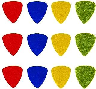 Hyamass 12pcs Felt Picks Plectrums for Guitar, Ukulele, Bass