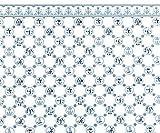Melody Jane Puppenhaus Miniatur Druck 1:12 Maßstab Delft Blue Weiß Fliesen Tapete