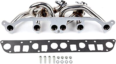 SCITOO Auto Replacement Exhaust Manifold Kits, Exhaust Manifold Set Stainless Steel fit Jeep Wrangler TJ 4.0L l6 AMC 242 6-2 2000-2006