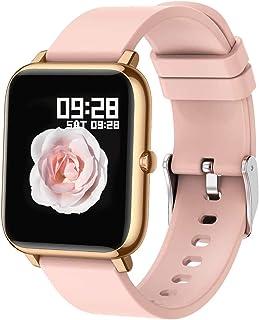 Popglory Smart Watch, Reloj Inteligente con Oxígeno Sanguíneo Presión Arterial Frecuencia Cardíaca, Pulsera Actividad Impe...
