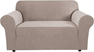 Stretch Couch Cover Loveseat Covers for 2 Cushion Couch Loveseat Slipcover|Sofa Cover for Loveseat 1 Piece with Elastic Bo...