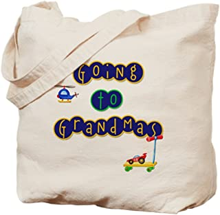 CafePress Boy Going To Grandma's Natural Canvas Tote Bag, Reusable Shopping Bag
