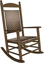 product image for POLYWOOD K147FTEWL Jefferson Woven Rocking Chair Rocker, Teak/White Loom