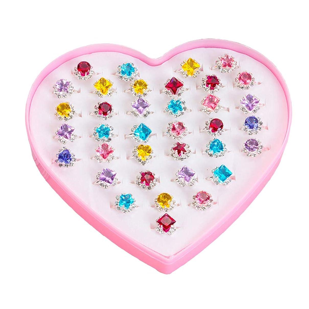 自宅で手のひら劣る指輪セット ペアリング キッズおもちゃ かわいい 36個セット 女の子 カップルリング 混合様式 ハロウィン パーティー クリスマス 誕生日プレゼント