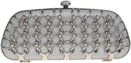 Fawziya Metal Plaid Women Fashion Baguette Clutch Bag