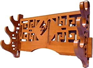 Zwaardstandaard Katana Houder Samurai Wakizashi Tanto Sword Display Rack Bamboe Solid Wood Wall Mount Zwaardstandaard (Siz...