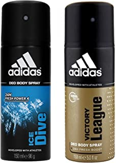 Adidas Ice Dive and Victory League Body Spray Combo (Pack of 2), 150ml