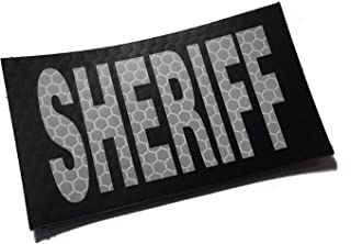 Empire Tactical USA Sheriff White on Black 3.5x2 Inch White Light Safety Reflective Us Flag Patch