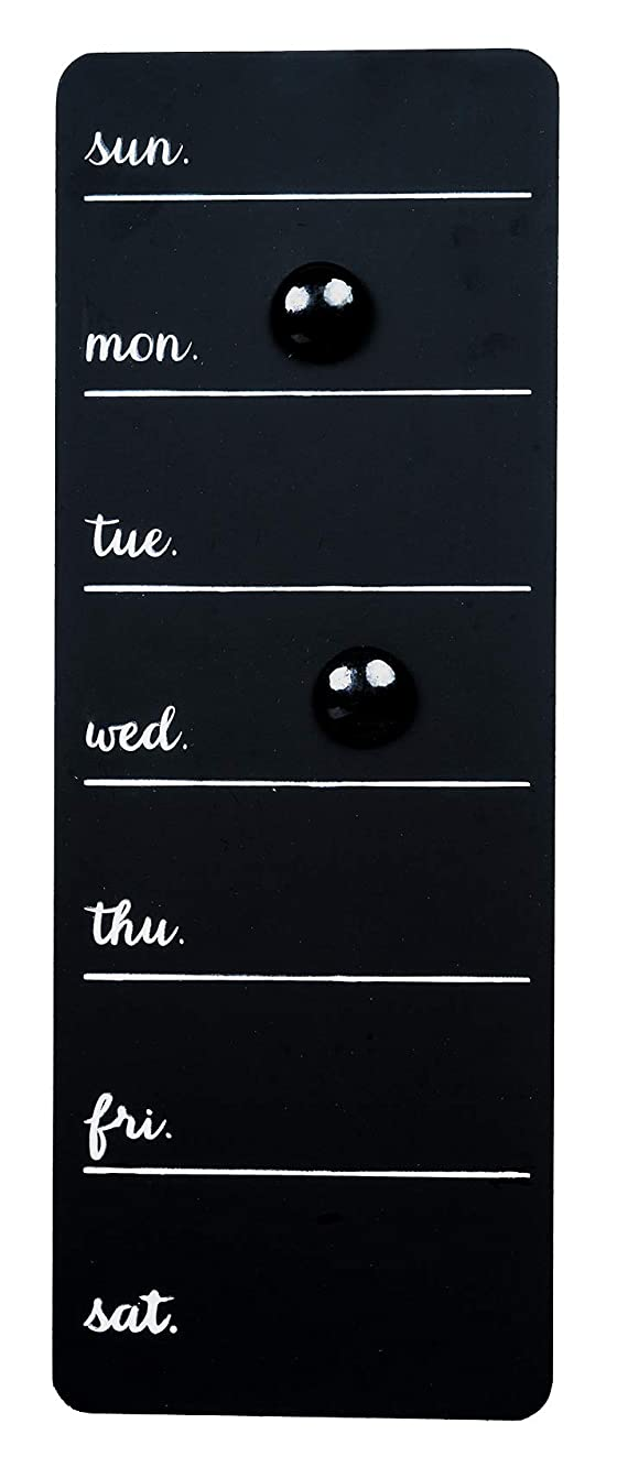 Space Art Deco Magnetic Weekly Planner - Two Magnets Included - Blackboard - Chalkboard - Dry Chalk Only - Chore Board - Menu Sign - to-Do List - Sawtooth Hanger - Wall Mounted Organizer