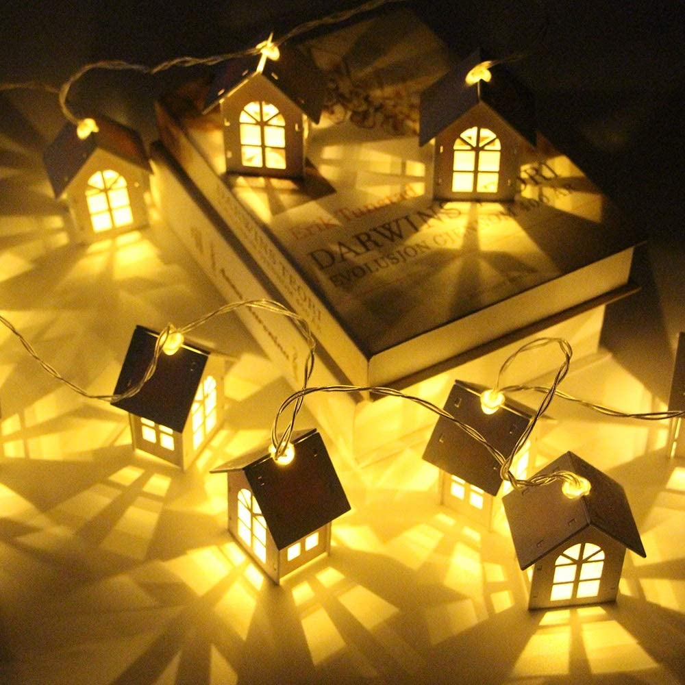 ZLMAY 10 20 Led House Style Alternative dealer New Christmas Fairy Y Lights Max 68% OFF Garland