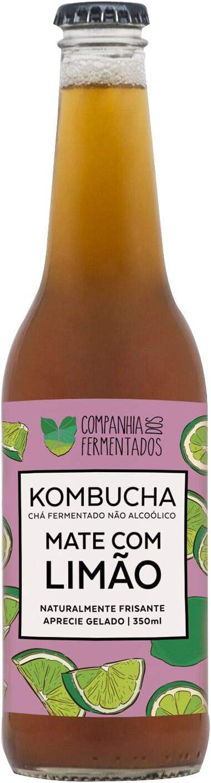 Kombucha Mate com Limão, 350ml