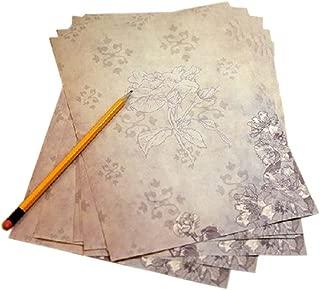 16Pcs Retro Jasimine Kraft Paper Stationery Calligraphy Writing Papers
