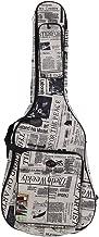 ammoon Funda para Guitarra 600D Resistente al Agua Tejido Oxford Correas 10mm de Grosor Algodón Acolchado con Bolsillos