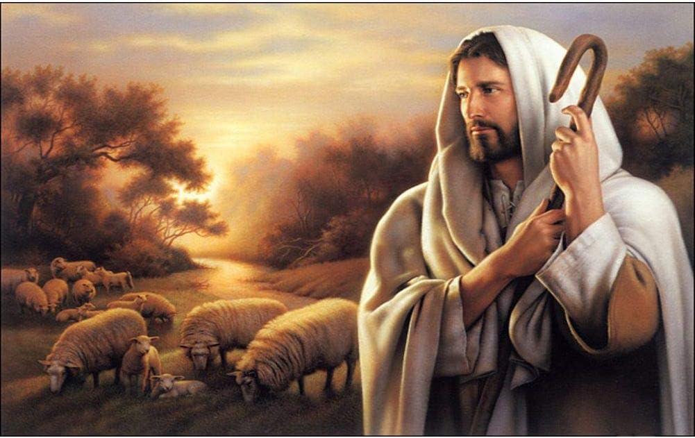 WEWINMON Deluxe Painting 5d DIY Diamond Jesus Religion Sheep wholesale F
