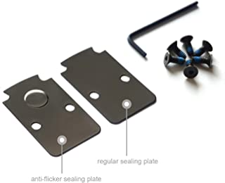 DPP Titanium Mounting Kit/Anti Flicker Sealing Plate Kit for Trijicon RMR Fit Glock MOS and Springfield OSP Models