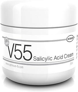 Crema V55 SIN Parabenos con Ácido Salicílico para granos puntos negros rojeces y piel problemática - 50 gramos