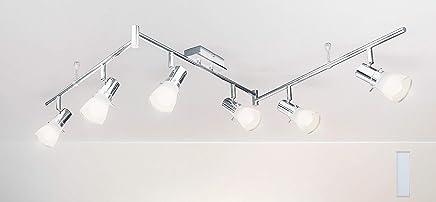 LED Lampe Decke Leuchte chrom Deckenleuchte 3-flammig Trango TG2003 Trango