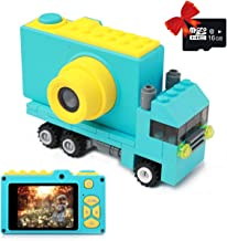 MAGENDARA Kids Camera Digital Cam for Girls Rechargeable Video Recorder with 16GB SD Card 12MP HD 1080P 2 Inch Screen for 3-12 Year Old Boys Toddler (Blue)