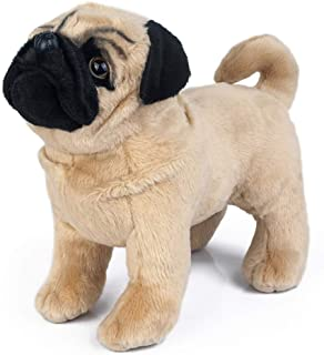 Plush Pug Dog Children's Plush Stuffed Animal, Plush Dog 12