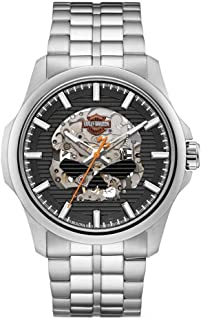 Men's Willie G Skull Self-Winding Stainless Steel Watch 76A158