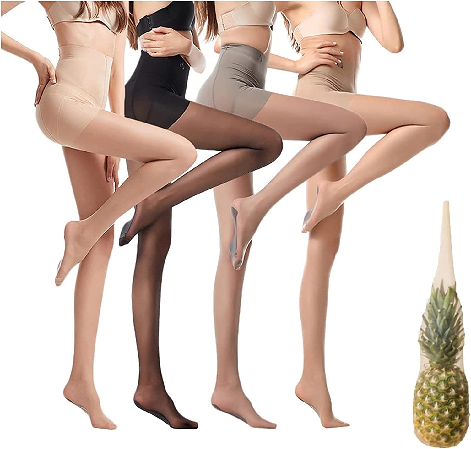 Universal Stretch Anti-Scratch Stockings,Ultra Invisible High Waist Pantyhose for Women,Womens Control Top Reinforced Toe Pantyhose,Sexy Sheer Tights Silk Stockings
