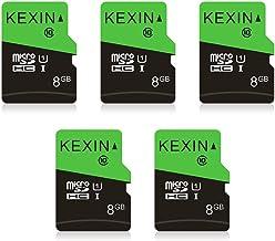 KEXIN 5 Pack 8GB Micro SD Card MicroSDHC UHS-I Memory Cards Class 10, C10, U1