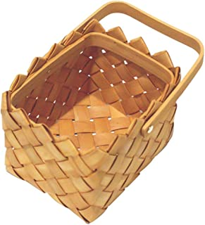 Nouveau panier de rangement en copeaux de bois tissé articles ménagers de stockage de légumes et de fruits panier pique-ni...