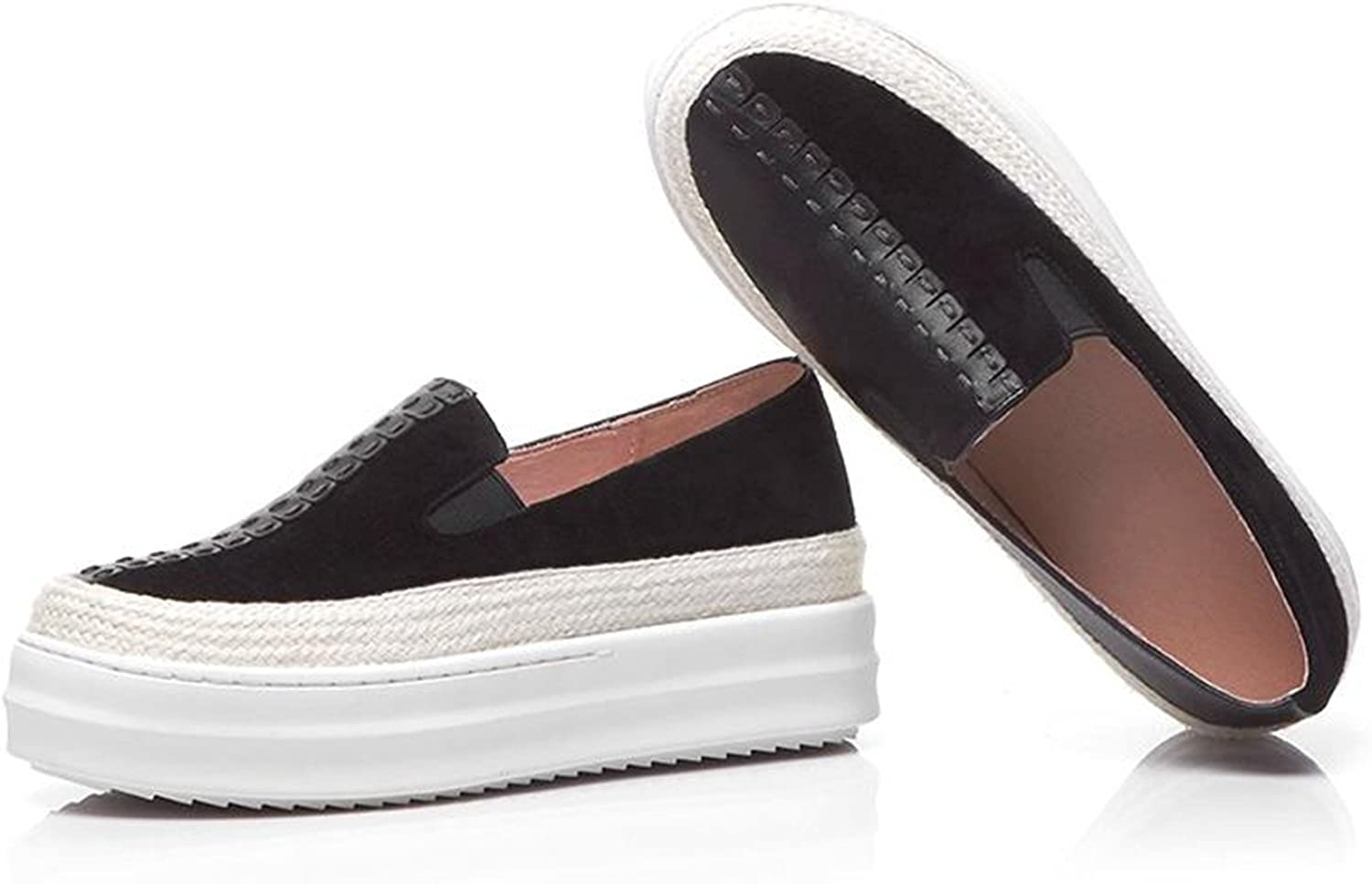 Dahanyi Stylish Pot Sheep Suede Mixed colors Slip on Superstar Round Toe Platform Causal shoes Runway Increased wome Vulcanized shoes