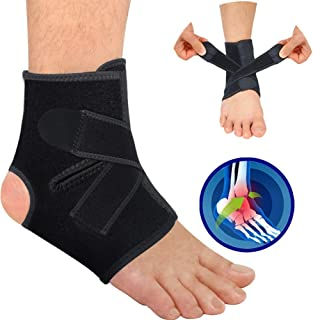 Ankle Brace for Women and Men, Ankle Sopport Brace, Ankle Wrap for Sprained Ankle, Ankle Stabilizer for Running, Basketball, Volleyball, Sports – Small
