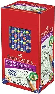 Lápis Grafite Redondo N2, Faber-Castell, EcoLápis Bandeira, 932, 144 Unidades