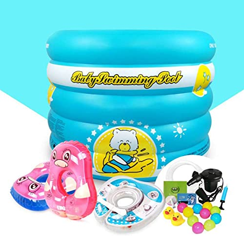 estar en gran demanda BEAGHTY Air Baths, Rectangular Inflatable Family Paddling Swimming Swimming Swimming Pool Indoor & Outdoor for Kids and Adults   96  73Cm,azul  mejor calidad
