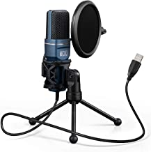 USB Gaming Microphone, TONOR Computer Condenser PC Mic with Tripod Stand & Pop Filter..