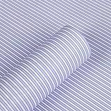 Azul rayas adhesivas, diseño de laminado de papel de contacto estante y cajón Liner Peel y Stick papel pintado 45 x 200 cm