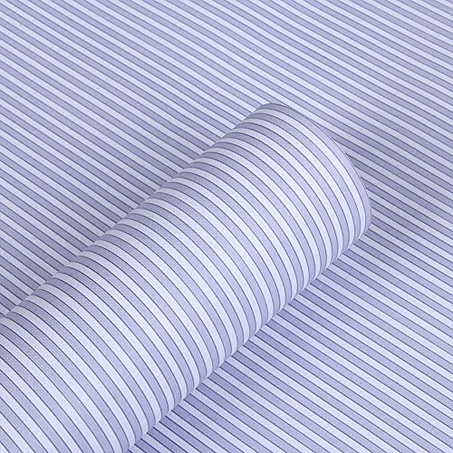 Blauwe streep Lijm Decoratieve Contact Papier Laminaat Plank en Lade Liner Peel en Stick Behang 45cm x 2m