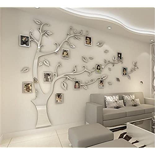 a8402ea702 JYSPORT DIY 3D Crystal Acrylic Painting Wall Decoration Large Photo Frame  Tree Wall Decals Tree Wall