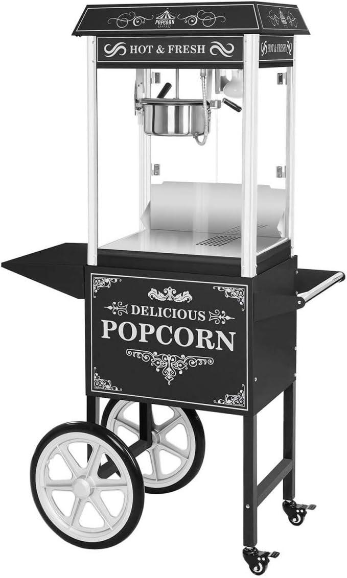 13 opinioni per Royal Catering- RCPW-16.2- Macchina per popcorn con carretto- nero