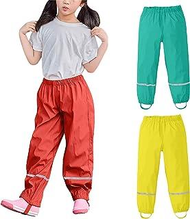 Riou Pantaloni Impermeabili Pioggia Bambino Trekking Traspirante Pantaloni di Fango Abbigliamento Pioggia per Ragazzo Outd...