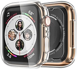 Monoy Case for Apple Watch Series 4 Screen Protector 40mm, [3-Pack] All Around Soft TPU Protective Cover Case for iWatch 4 40mm (Clear)