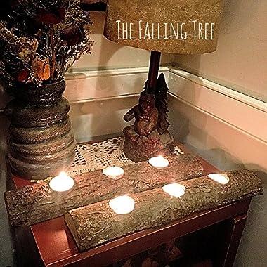 Log Tea light Candle Holders, Rustic Wedding or Home decor SET OF 2