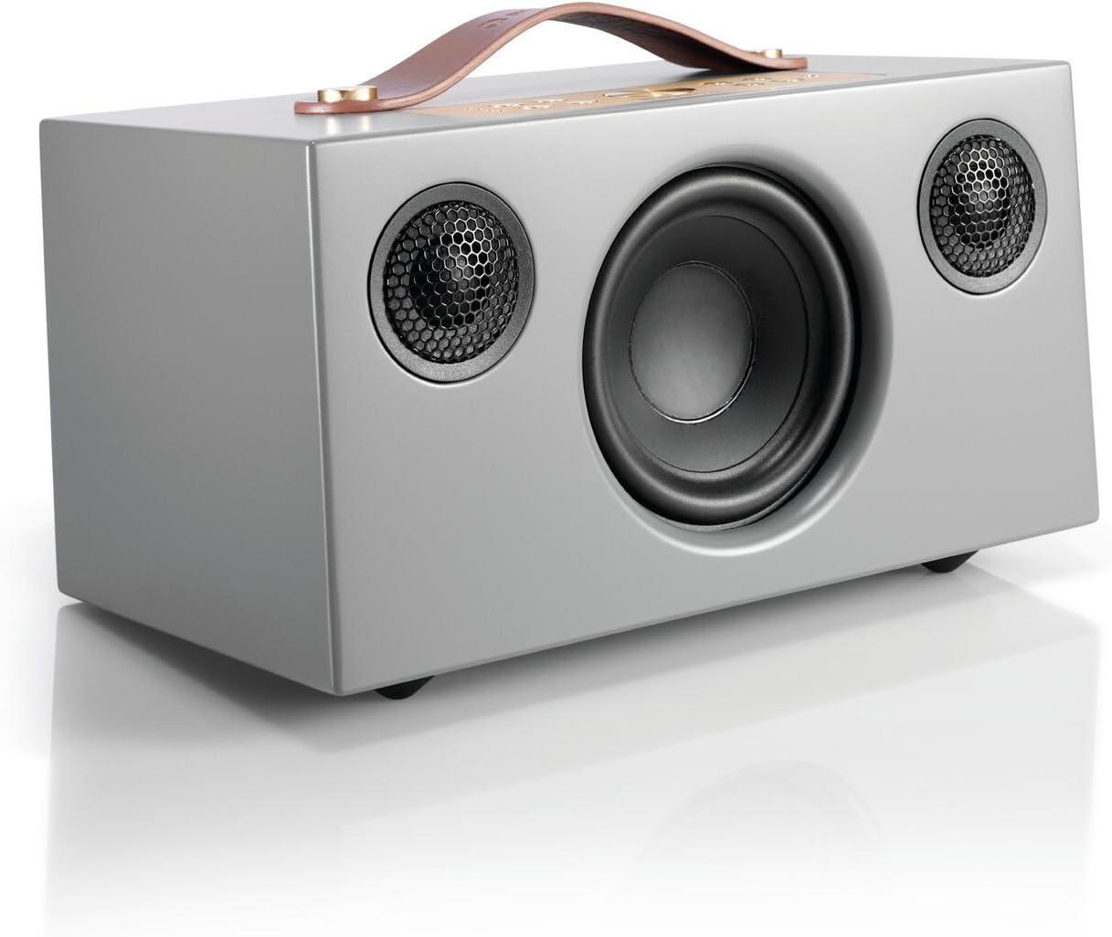Pequeño Altavoz Bluetooth Inalámbrico Portátil Multiroom Potente - Speaker Hi-Fi con Conexión WiFi, Apple Air Play, Spotify Connect - Audio Pro Addon C5 - Gris