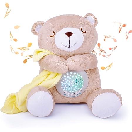 寝かしつけおもちゃ 出産祝い 誕生日プレゼント ホワイトノイズ オルゴール 寝かしつけ 赤ちゃん おもちゃ 寝かしつけクマちゃん ぬいぐるみおもちゃ 食品衛生法検査済 Ansoro
