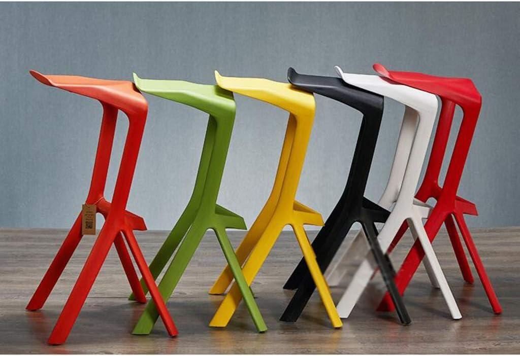 KAI LE Tabouret de Bar, Plastique Minimaliste du Tabouret PP de Mode de Maison de Chaise de personnalité Minimaliste Moderne (Couleur : Green) Red