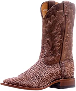 BO-5519-E Exotic Magnet Boots for Men Leather Brown