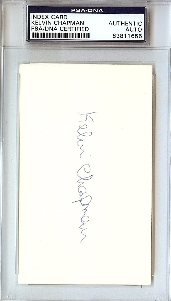 Kelvin Chapman Autographed 3x5 Index Card PSA Bargain York NEW before selling ☆ New DNA Mets