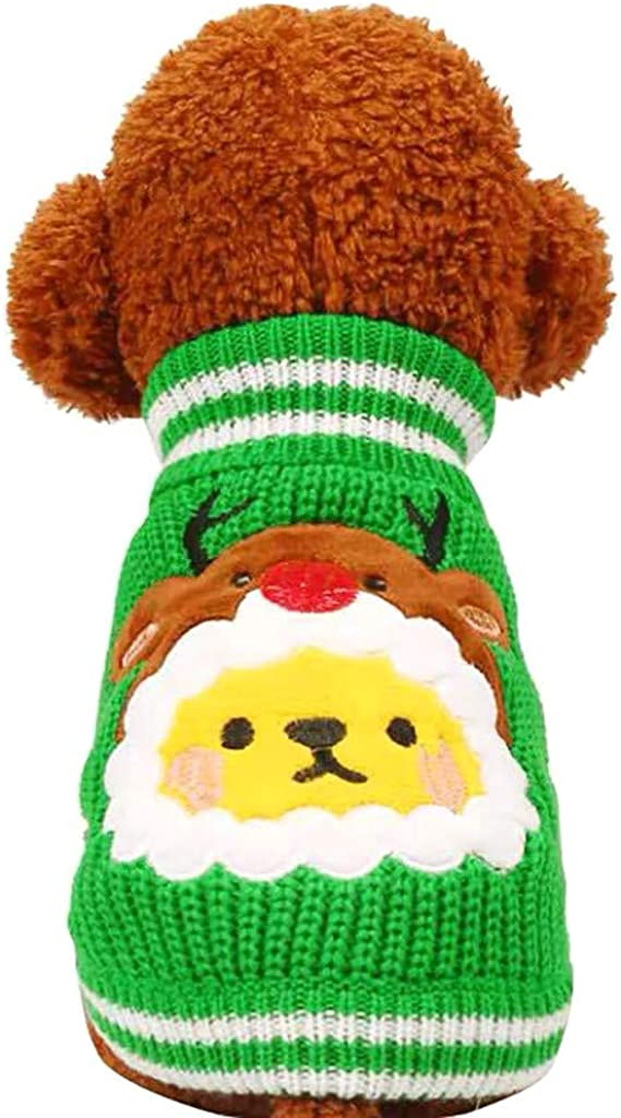 Winsummer Dog Christmas Sweaters Knitted Super special price Sweater Warm Deluxe Pet Cat Do