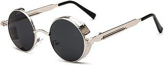 round spring sunglasses new men's ladies metal sunglasses