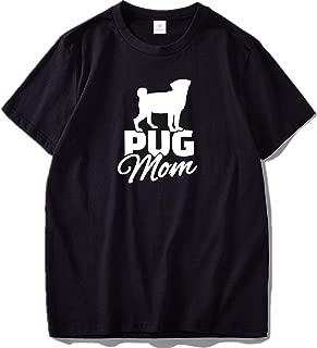 T Shirt 100% Cotton Casual Loose Tops O-Neck T-Shirt 2018 New Pug Mom Dog Tshirt EU Size